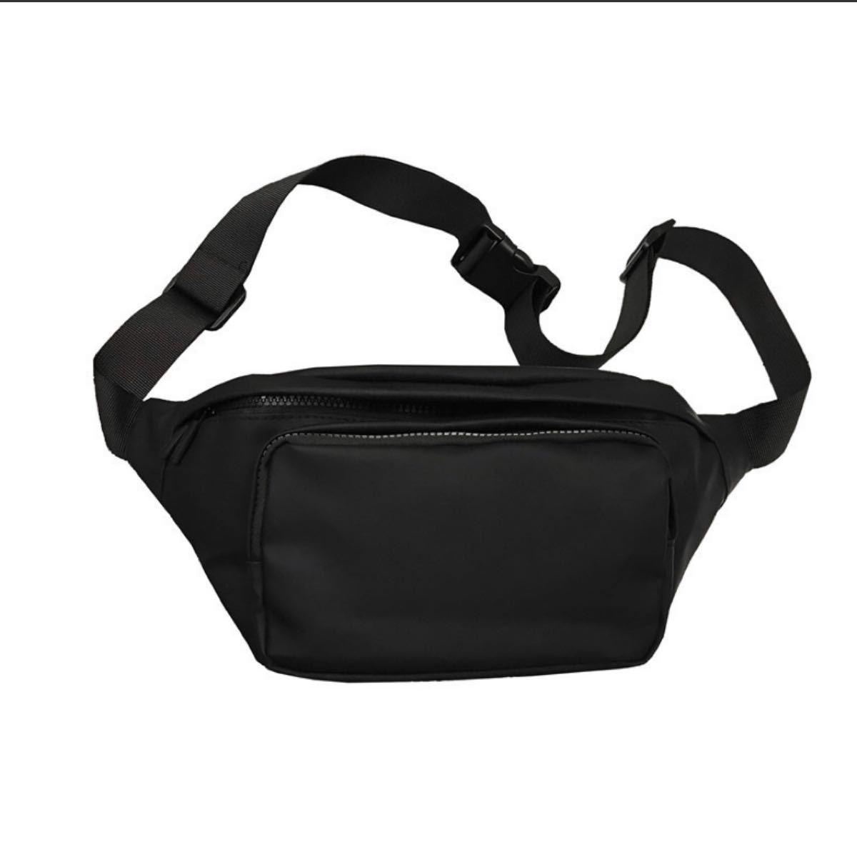 メンズボディバッグ メンズバッグ ショルダーバッグ ボディバッグ 斜め掛け 大容量 ウエストポーチ ブラック 新品