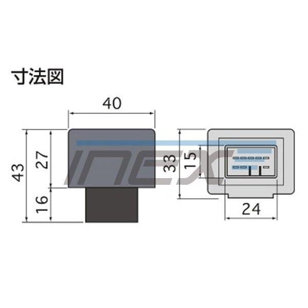 NCP/SCP10#系 ラクティス [H17.9-H22.11] ハイフラ防止 ICウインカーリレー アンサーバック対応 8ピンタイプ 8pin_画像3