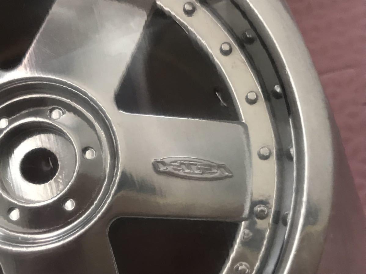 送料無料 HPI 大きなホイール セット シルバーメッキ ラジコン用 未使用 オフロードカー クロカン バギー WHEELS