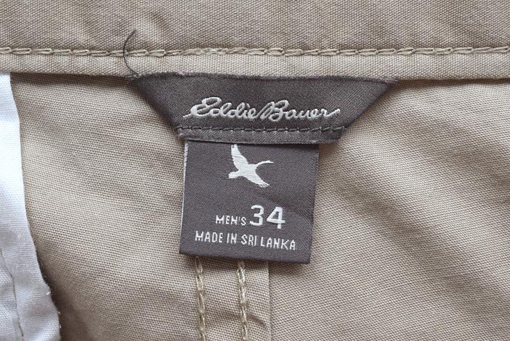 【送料無料】エディーバウアー コットン ハーフパンツ ショーツ 半ズボン コットンチノ W34 Eddie Bauer アウトドア 古着 EZ0179