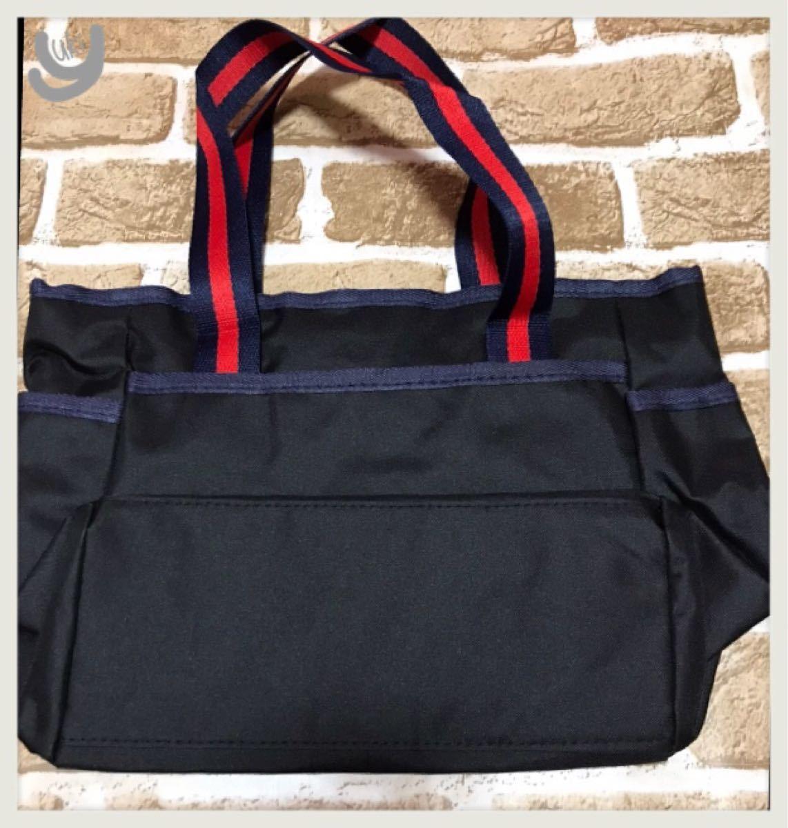 トートバッグ ブラック 黒 ミニトート ランチバッグ ゴルフ ラウンドバッグ