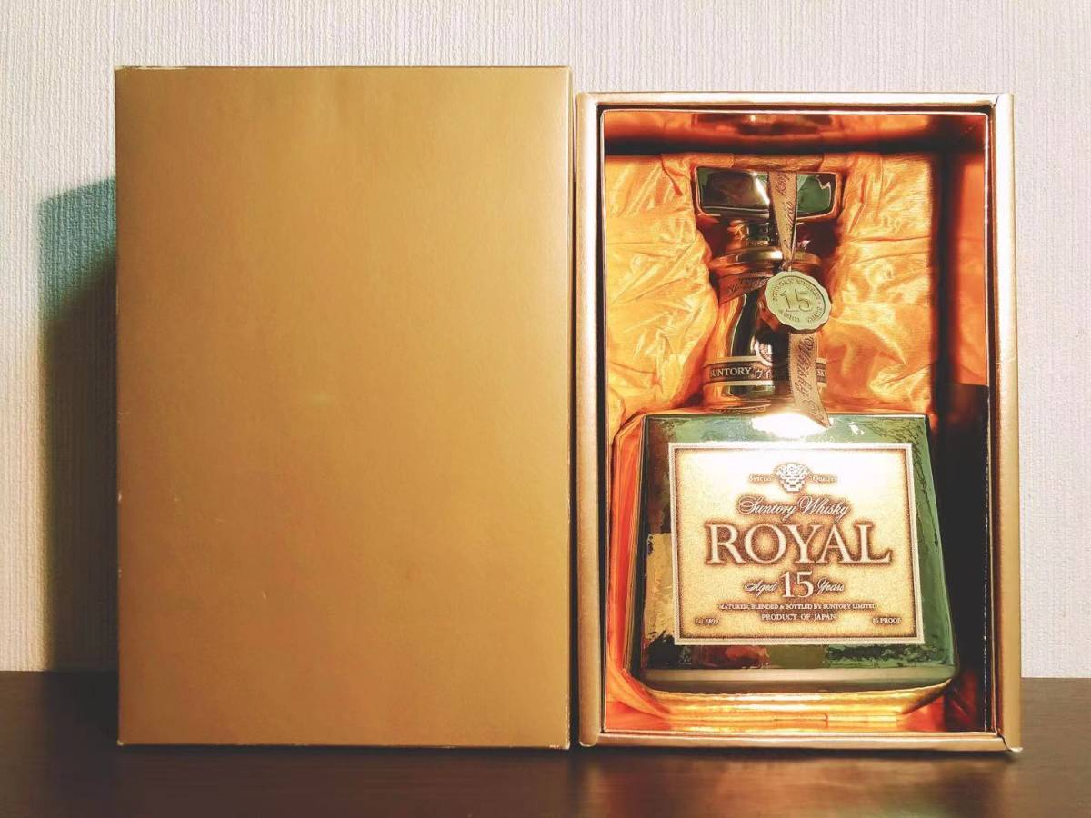 数量限定50本 非売品 サントリー ウイスキー ローヤル プレミアム15年 ゴールドボトル 記念ボトル 元箱付 未開栓 Suntory whiskey