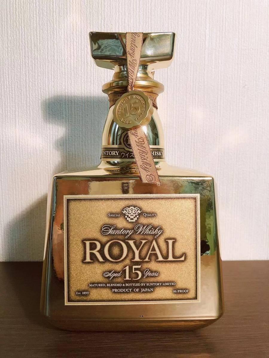 限定非売品 サントリー ウイスキー ローヤル プレミアム15年 ゴールドボトル 金色 記念 未開栓 限定50本 Suntory whiskey