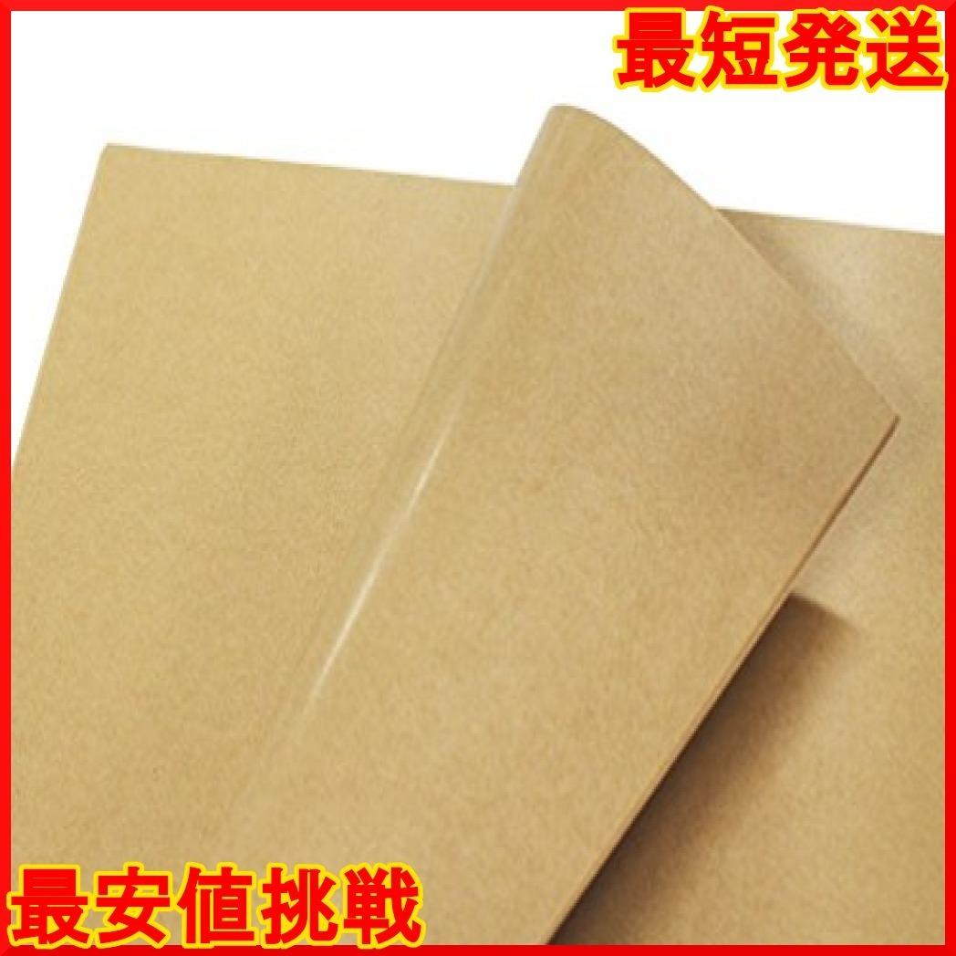 フジパック クラフト紙 片面ツヤ加工 ラッピング 包装紙 100枚_画像4