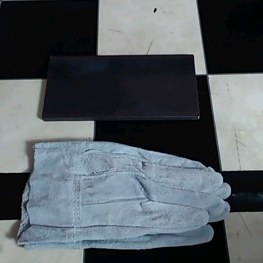 バーベキュー鉄板200×100革手袋サービス