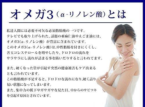 新品_約3ヶ月分 シードコムス 亜麻仁油 エゴマ油配合 DHA+EPA サプリメント 約3ヶ月分 90粒 青魚_画像4