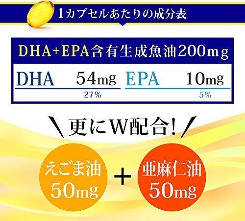新品_約3ヶ月分 シードコムス 亜麻仁油 エゴマ油配合 DHA+EPA サプリメント 約3ヶ月分 90粒 青魚_画像3
