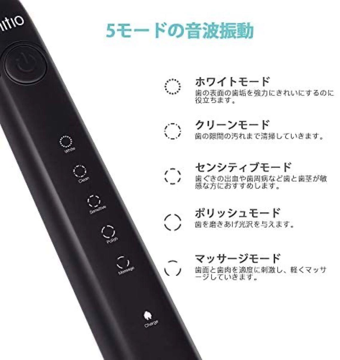 電動歯ブラシ 歯ブラシ ハブラシ 音波歯ブラシ USB充電式