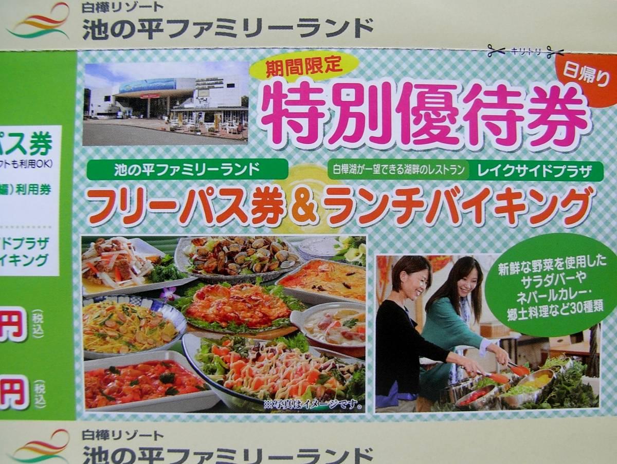 ★長野 信州 ファミリーランド 特別優待券・宿泊券 3種 クーポン _画像5