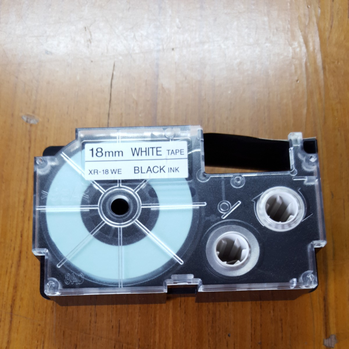 CASIO ネームランド 白に黒文字テープ