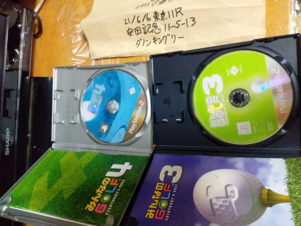 送料無料 動作確認済 PS2ソフト2本セット みんなのGOLF3 みんなのGOLF4/PlayStation2 プレステ2 みんなのゴルフ3 みんなのゴルフ4 即決設定_画像3
