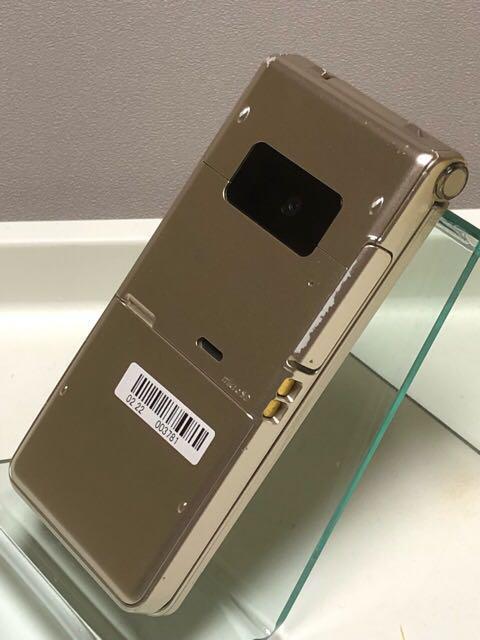 良品中古 docomo P-01H ゴールド 初期化OK/Bluetooth対応/パナソニック製/ 折りたたみ 携帯電話 2015年冬春モデル_画像4