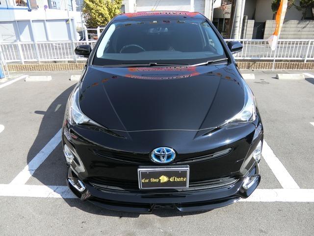 「返金保証付:平成28年 トヨタ プリウス 1.8 S 外品エアロパーツ 外品19AW LED@車選びドットコム」の画像2