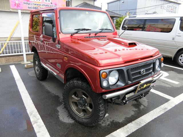 「返金保証付:平成8年 スズキ ジムニー ランドベンチャー 4WD ターボ 赤全塗装 外1@車選びドットコム」の画像3