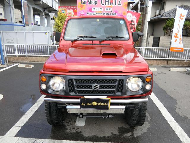 「返金保証付:平成8年 スズキ ジムニー ランドベンチャー 4WD ターボ 赤全塗装 外1@車選びドットコム」の画像2