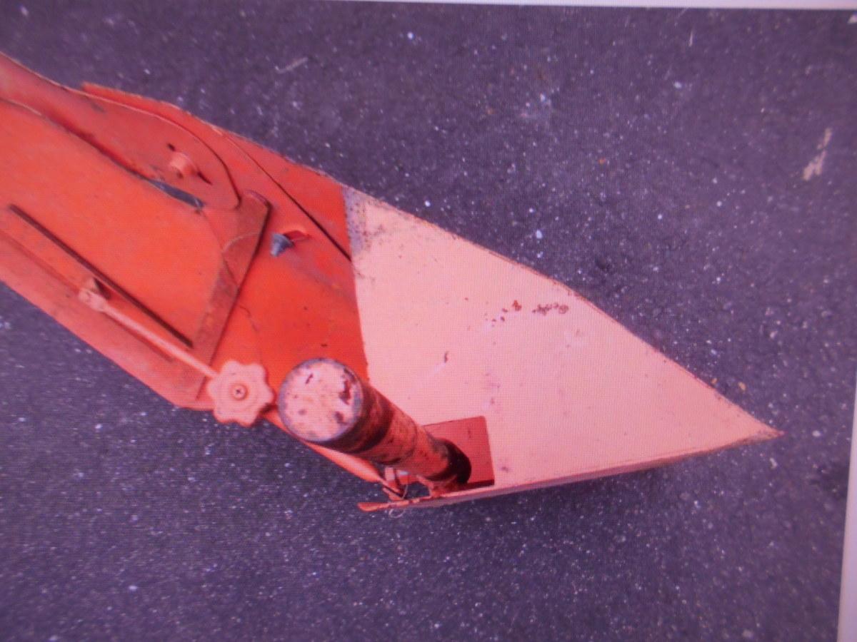 岐阜中古農業機械培土器畝立て管理機耕運機取付け丸棒機械トラクターの片培土器中古片バイト畦切り機株式会社ギフトップトレ-ディング_画像2