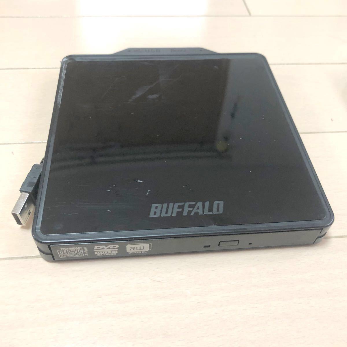 ●BUFFALO  外付け DVDドライブ動作品2         DVSM-PC58U2V-BK マルチドライブ