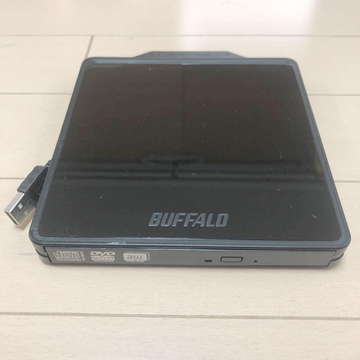 新品同様BUFFALO 外付け DVDドライブ動作品(1)DVSM-PC58U2V-BK マルチドライブ