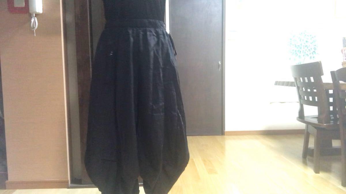 新品ワイドパンツ 黒