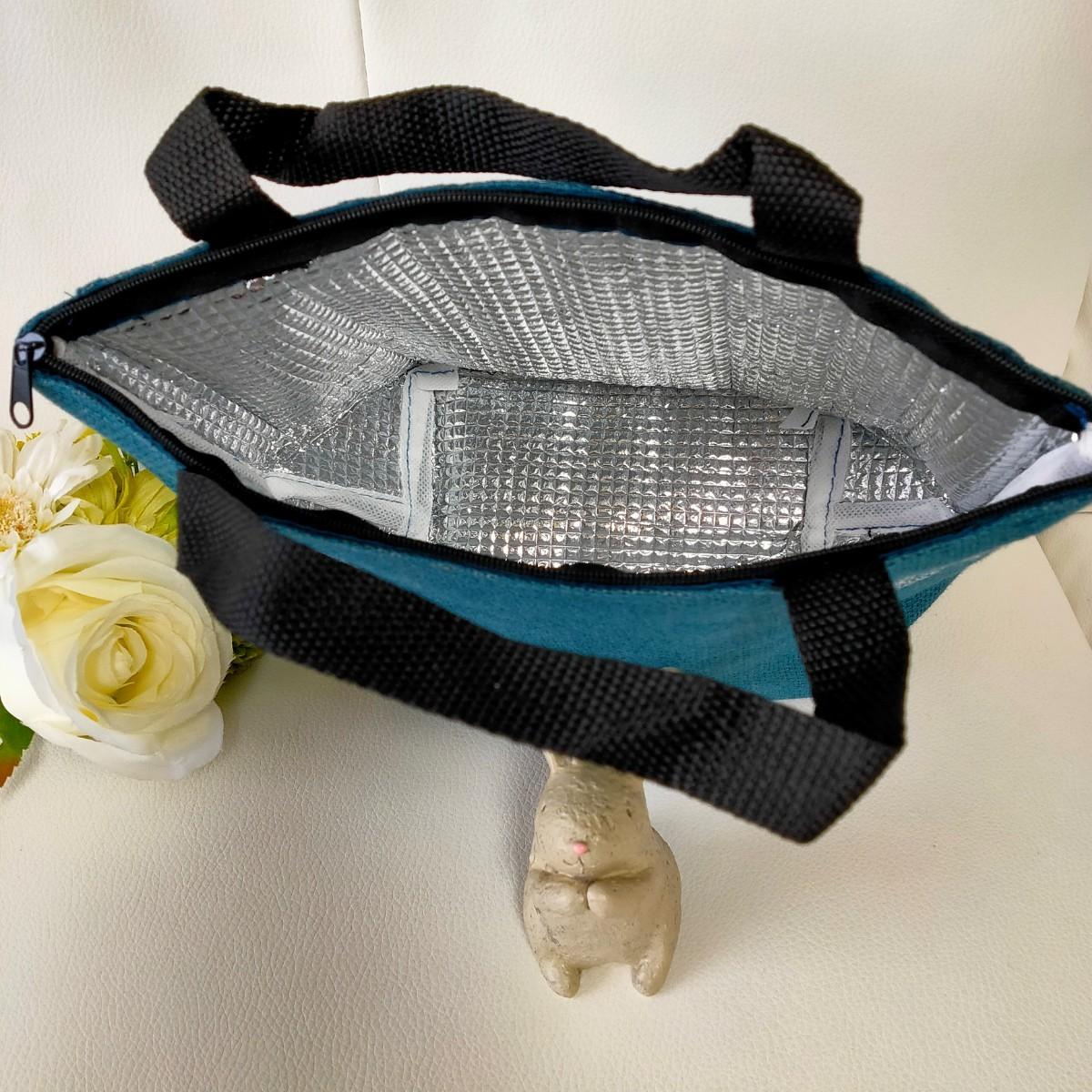 【8月お値下げ価格】  ハンドメイド ミナペルホネン  ランチトート トートバッグ ミニトートバッグ 保冷バッグ