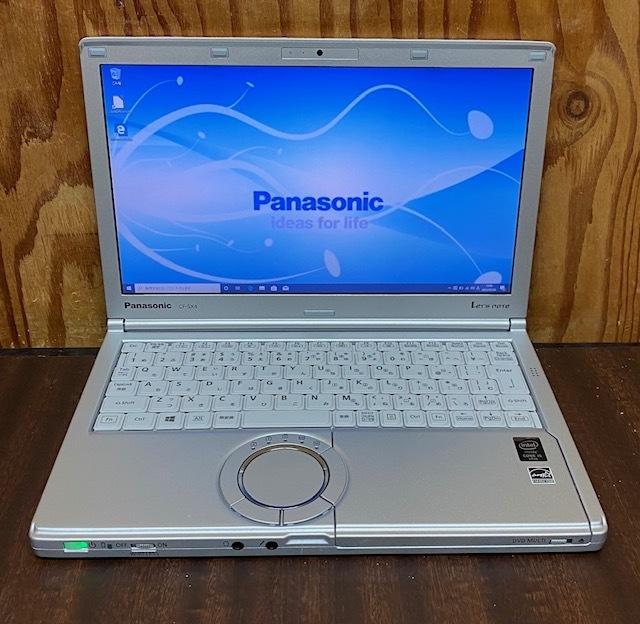 ★★超高速 使用時間1130h Panasonic Let's note CF-SX4/i5-5300U/メモリ8GB/SSD256GB/DVDSマルチ/カメラ/Win10