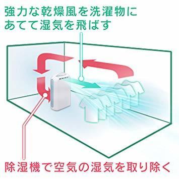 ブルー ブルー アイリスオーヤマ 衣類乾燥除湿機 強力除湿 タイマー付 静音設計 除湿量2.2L デシカント方式 ブルー IJD_画像10