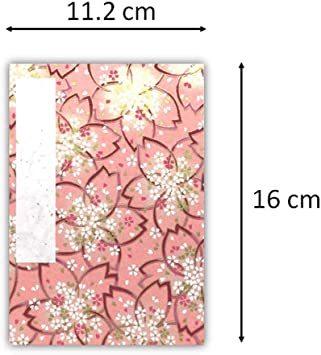 桜染 【Amazon.co.jp 限定】和紙かわ澄 御朱印帳 16×11.2cm 友禅和紙 はんなり 桜染_画像3
