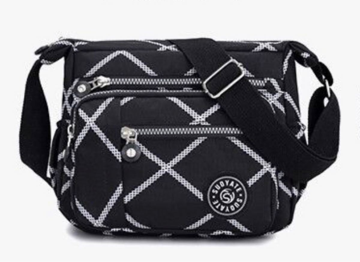 ショルダーバッグ 斜めがけ 黒 ボディーバッグ レディースバッグ iPad 斜めがけバッグ 旅行バッグ マザーズバッグ 軽量
