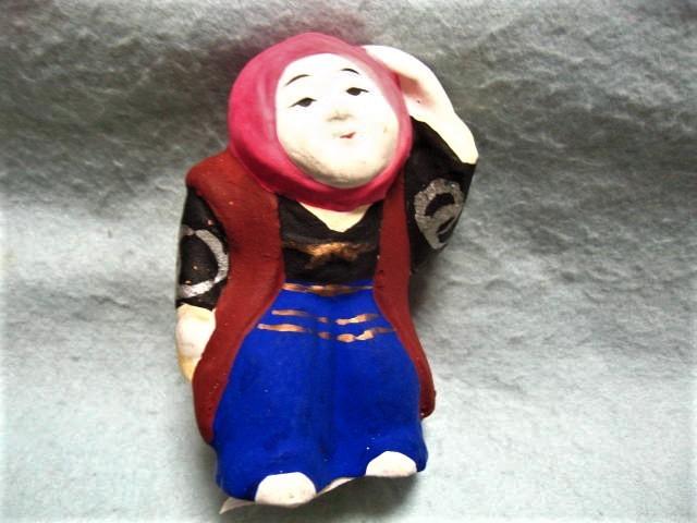 【福】 渡辺信秀 豊年踊り土人形 おどり 富山  郷土玩具_画像1