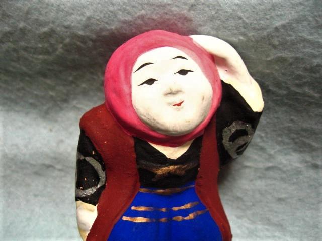 【福】 渡辺信秀 豊年踊り土人形 おどり 富山  郷土玩具_画像2
