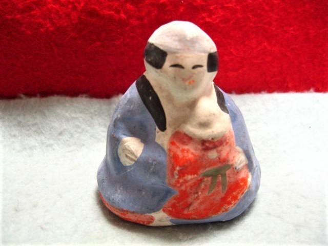 【福】 今戸人形  乳呑児抱き土人形 子守 今戸焼  子抱  東京 郷土玩具_画像1
