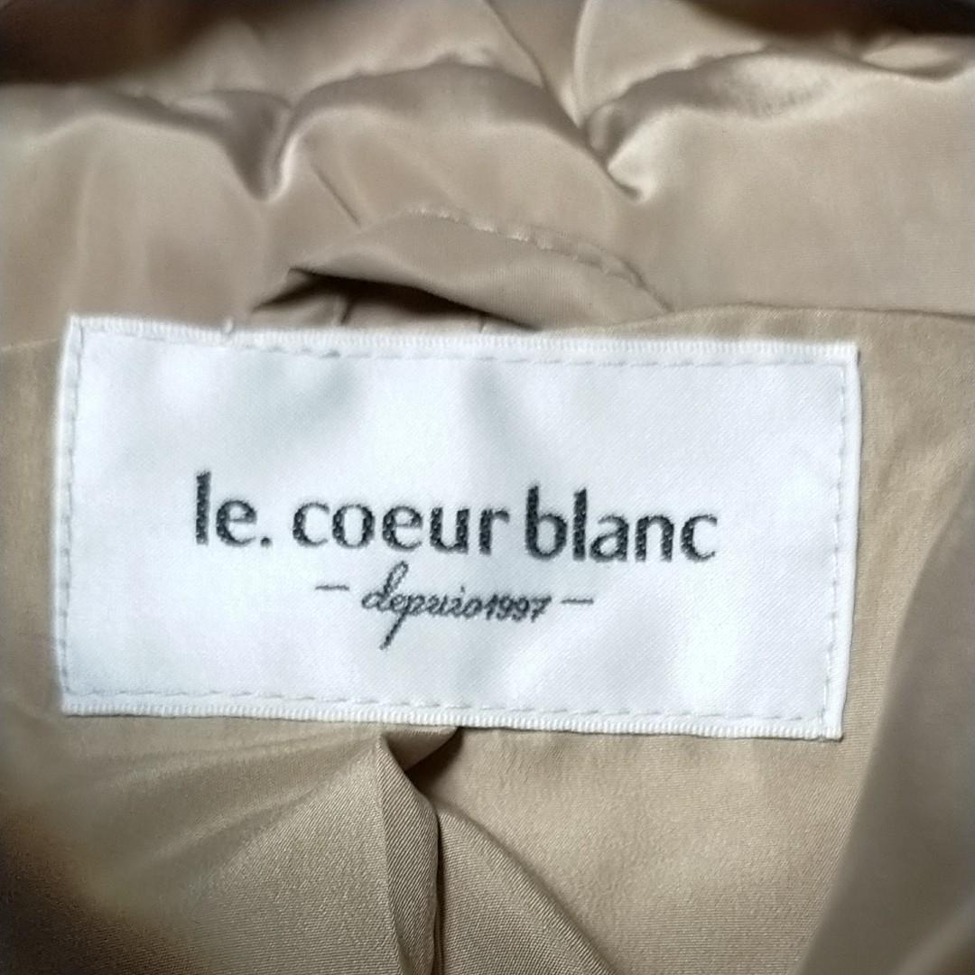 ダウンコート ダウンジャケット ルクールブラン le.coeurblane  ベージュ