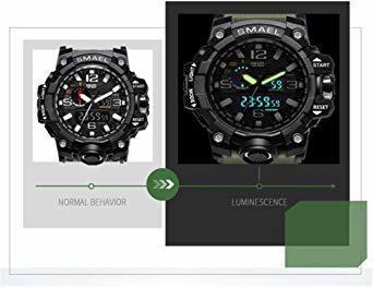 ★今月のご奉仕価格★腕時計 メンズ SMAEL腕時計 メンズウォッチ 防水 スポーツウォッチ アナログ表示 デジタル クオーツ腕_画像4