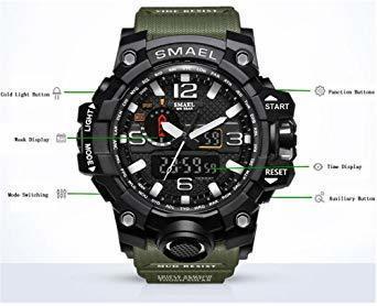 ★今月のご奉仕価格★腕時計 メンズ SMAEL腕時計 メンズウォッチ 防水 スポーツウォッチ アナログ表示 デジタル クオーツ腕_画像3