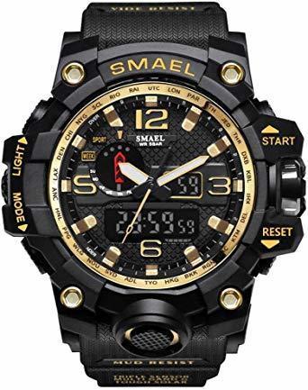 ★今月のご奉仕価格★腕時計 メンズ SMAEL腕時計 メンズウォッチ 防水 スポーツウォッチ アナログ表示 デジタル クオーツ腕_画像1