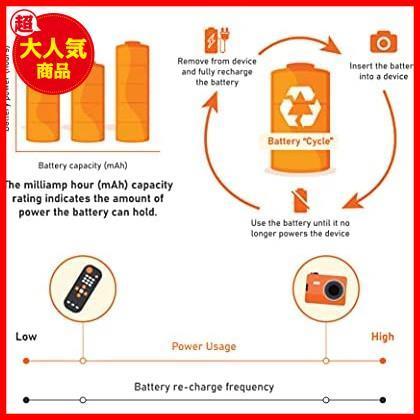 Amazonベーシック 充電池 高容量充電式ニッケル水素電池単4形8個セット (充電済み、最小容量 800mAh、約500回使用可能)_画像5
