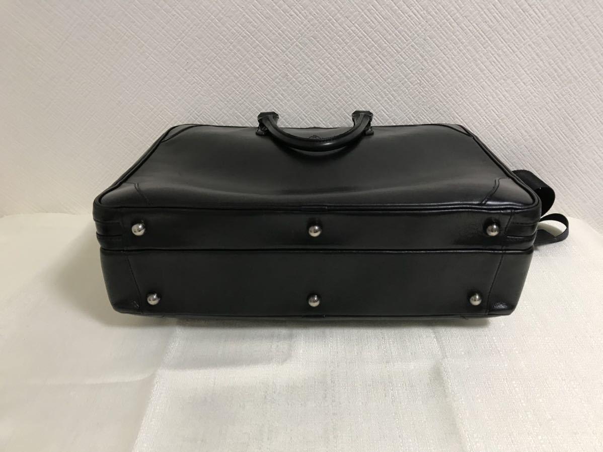 本物フジタカFUJITAKA本革レザー2wayデカビッグボストントートハンドバッグビジネスショルダーバック旅行トラベル黒ブラックメンズ