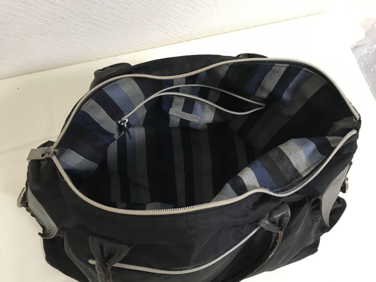 本物オロビアンコOROBIANCO本革レザーナイロントートハンドバッグビジネスボストンバック旅行トラベル黒ブラックレディースメンズ