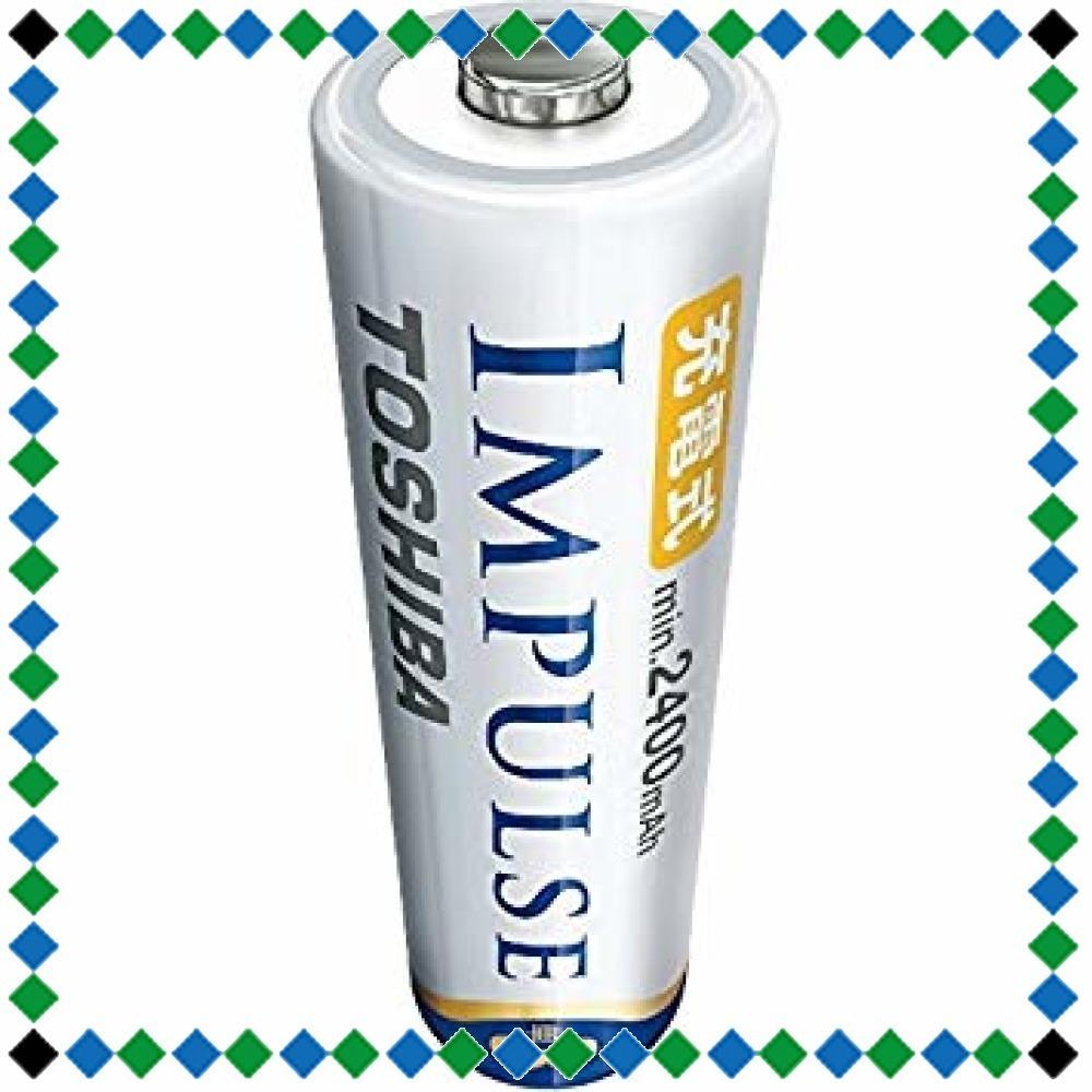 TOSHIBA ニッケル水素電池 充電式IMPULSE 高容量タイプ 単3形充電池(min.2400mAh) 4本 TNH-3_画像2