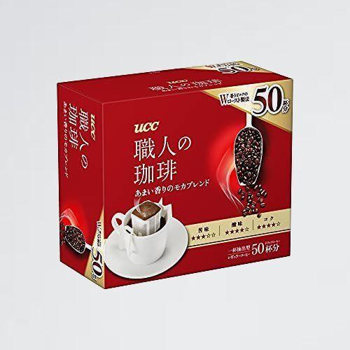 新品 未使用 職人の珈琲 UCC W-L8 50杯 350g ドリップコ-ヒ- あまい香りのモカブレンド_画像1