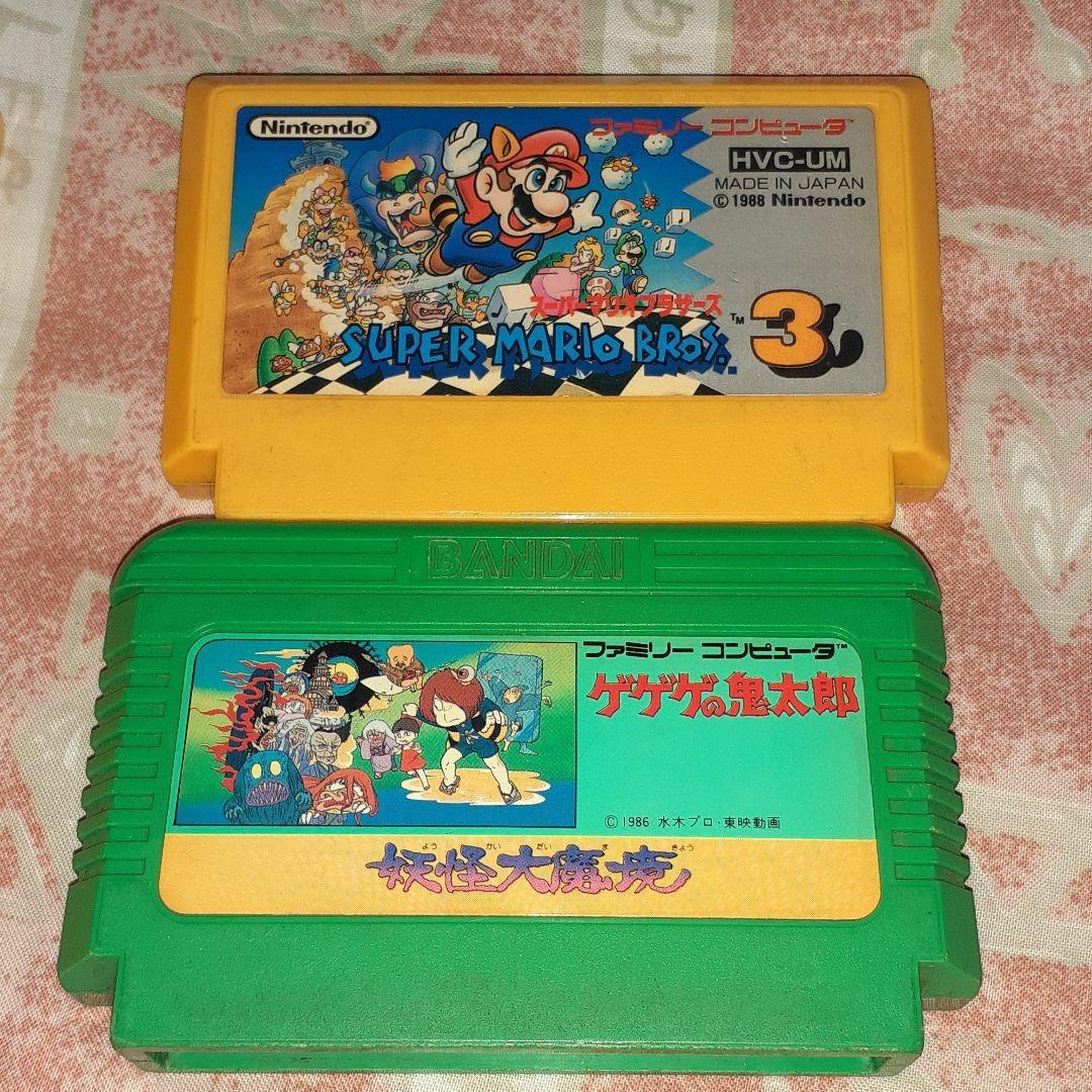 ファミコンソフト マリオブラザーズ スーパーマリオブラザーズ スーパーマリオブラザーズ3 鬼太郎 セット