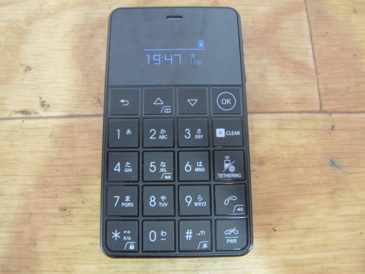 ◎ジャンク フューチャーモデル㈱ NichePhone-S/ニッチフォンS MOB-N18-01-BK ブラック 4G 通電のみ動確 SIMフリー携帯電話 @送料520円_画像2