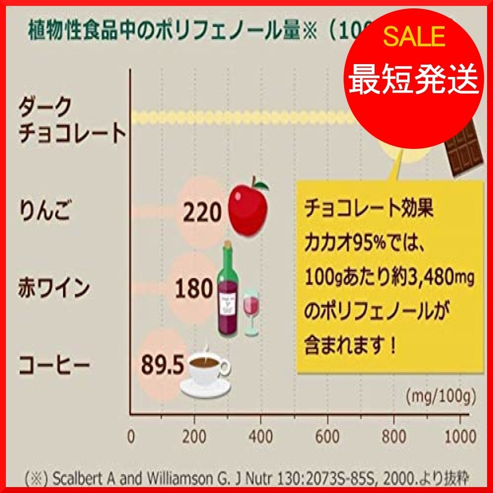 明治 チョコレート効果カカオ95%大容量ボックス 800g_画像5