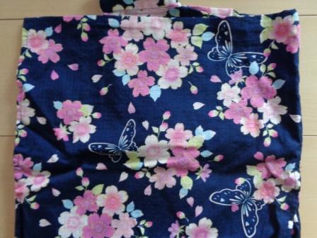 マザウェイズ フラワー 浴衣 紺 帯 150 _画像3