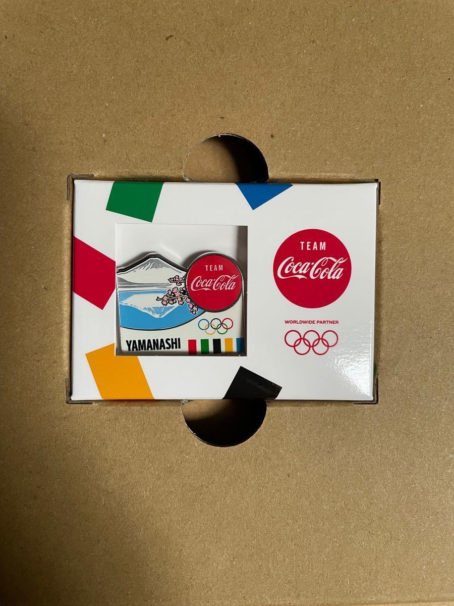東京オリンピック  2020 聖火リレー ピンバッジ 山梨県 富士山 バッチ  コカ・コーラ 東京オリンピック 富士山 TOKYO