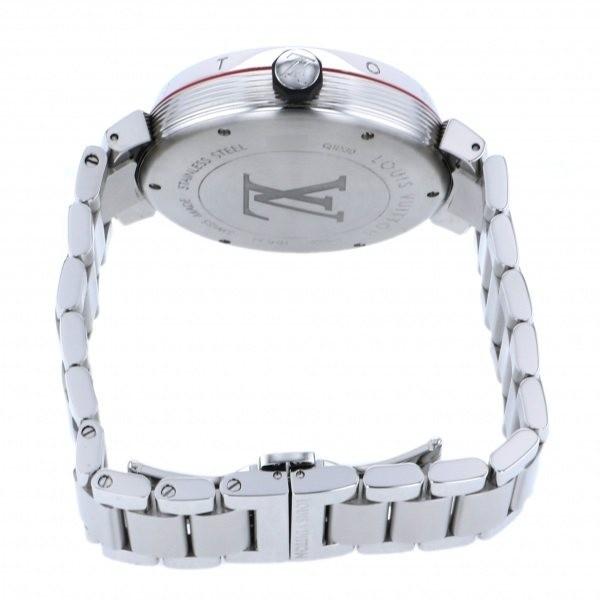 ルイ・ヴィトン LOUIS VUITTON タンブール グラフィット GMT Q1D30 グレー文字盤 中古 腕時計 メンズ_画像5