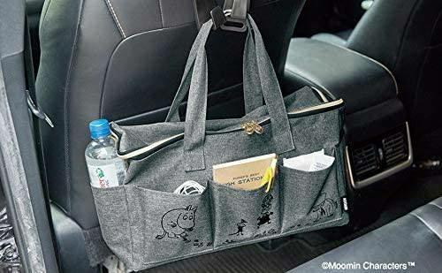 トートバッグ レディース ムーミン 大容量 ショルダー グレー ファスナー 旅行 ママバッグ 旅行 ピクニック ハンドバッグ 便利