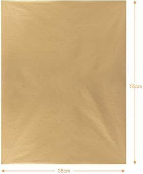 新品ゴールド NALER クリスマス ラッピング ペーパー ゴールド ギフト 包装紙 38x50cm 薄葉紙 約60FXCS_画像2