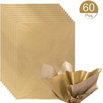 新品ゴールド NALER クリスマス ラッピング ペーパー ゴールド ギフト 包装紙 38x50cm 薄葉紙 約60FXCS_画像1