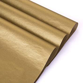 新品ゴールド NALER クリスマス ラッピング ペーパー ゴールド ギフト 包装紙 38x50cm 薄葉紙 約60FXCS_画像3